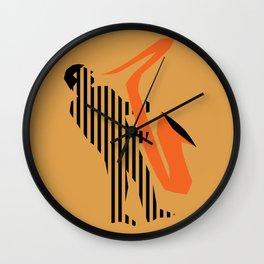Vintage poster-Jazz festival-Newport beach 3. Wall Clock