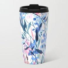 Wandering Wildflowers Blue Travel Mug