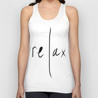 relax Tank Tops featuring relax by Malkin