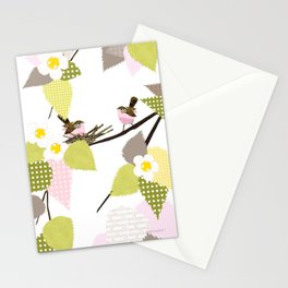 Sweet baby birds Stationery Cards