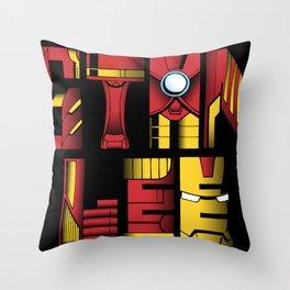 Stan Lee (Iron Man) Throw Pillow