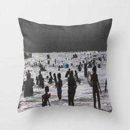 Shadow Beach Throw Pillow