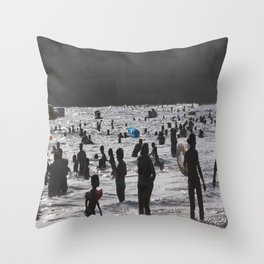 Shadow Beach Throw Pillow