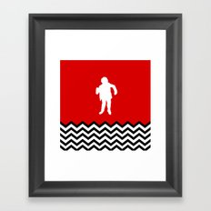 Black Lodge Dreams: Man From Another Place (Twin Peaks) Framed Art Print