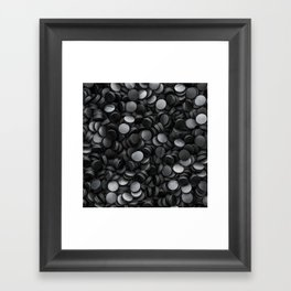 Hockey pucks Framed Art Print
