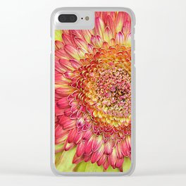 Flower yallow pink Clear iPhone Case