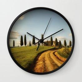 Cypresses of Toskany Wall Clock