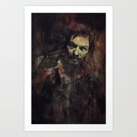 daryl Art Prints featuring Daryl Dixon by Sirenphotos