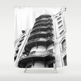 Warehouse District Architecture Hamburg Shower Curtain