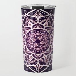 Violet Glowing Spirit Mandala Travel Mug