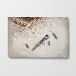 Feather Forage Metal Print