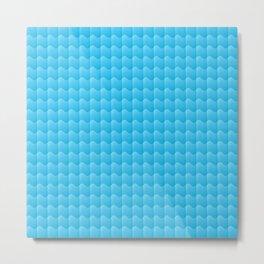 Ocean Blue waves Metal Print