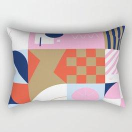 Abstract Geometric Composition 086 Rectangular Pillow