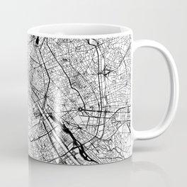 Paris White Map Kaffeebecher