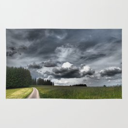 Path Through Meadow, Black Forest - Landscape Photography Rug