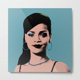 Rihanna Pop Art Metal Print