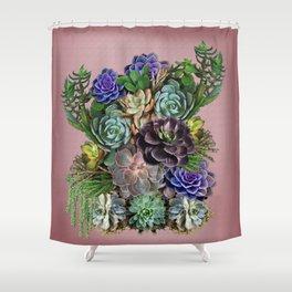 Succulent gardens Shower Curtain