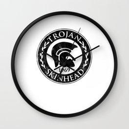 Distressed Trojan Skinhead graphic Anti-Racist Skinhead '69 Wall Clock