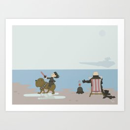 Grandad's Day Off, Nursery Wall Art, Nursery Decor Art Print