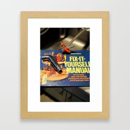 I Get By With A Little Help Framed Art Print