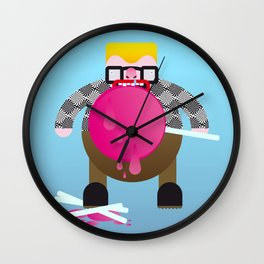 Gluttonous. Wall Clock