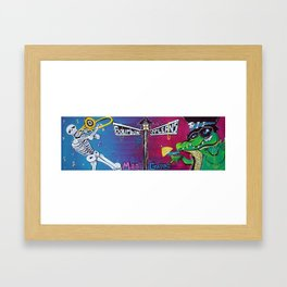 Mardi Gras Celebration Framed Art Print