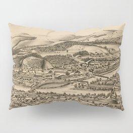 Old Lebanon NH & White River Junction VT Map (1889) Pillow Sham