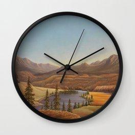 African American Masterpiece View of Lake Okanagan, British Columbia by Grafton Tyler Brown Wall Clock