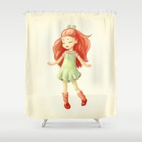 ginger Shower Curtains featuring Ginger by Freeminds