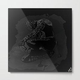 spider man black Metal Print