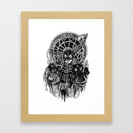 Araneae Black Framed Art Print