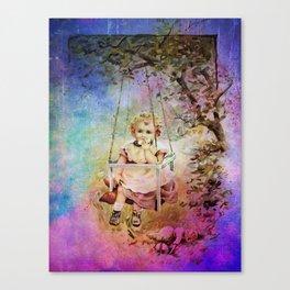 APPLE SLICE UNDER THE TREE Canvas Print