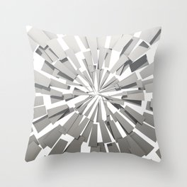 Grey Sunburst Throw Pillow
