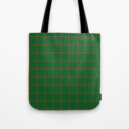 Green and Red Grid Tote Bag