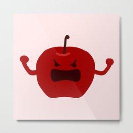 Vulgar Fruit // Angry Apple Metal Print