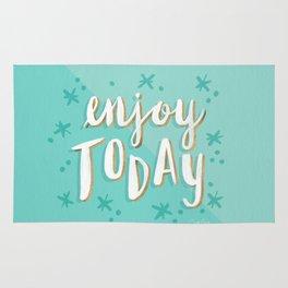 Enjoy Today – Mint & Gold Palette Rug