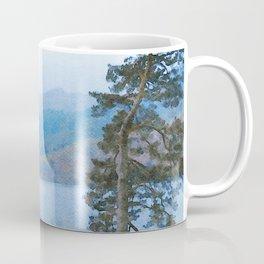 Pine Trees at Thirlmere, Lake District, Cumbria, UK Watercolour Coffee Mug
