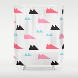over the hill Shower Curtain