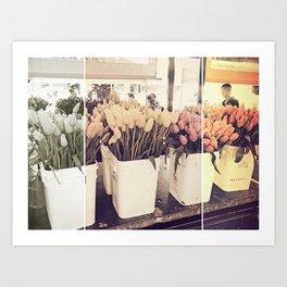 Tulip collage Art Print