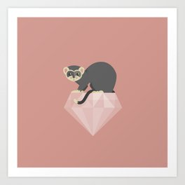 14 Ferret Diamond Art Print