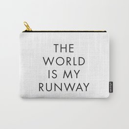 The World is my Runaway, Inspirational Quotes, Affiche Scandinave, Wall Art, Contemporary Print Carry-All Pouch