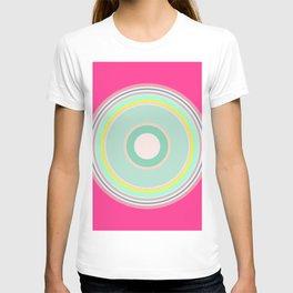 pink magenta circle T-shirt