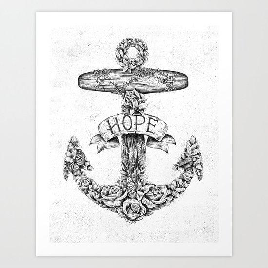 Hope Anchors Art Print
