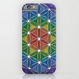 Rainbow Happy Flower of Life iPhone Case