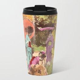 Geisha in the garden Travel Mug