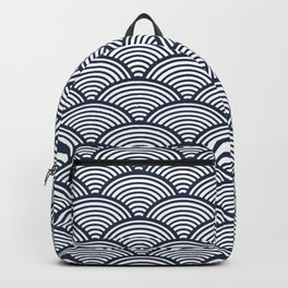 Japanese Waves Navy Backpack