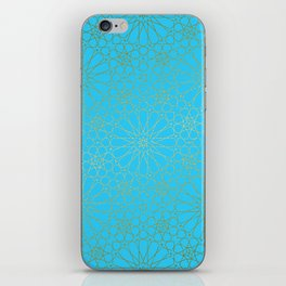 Moroccan Nights - Gold Teal Mandala Pattern - Mix & Match with Simplicity of Life iPhone Skin