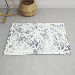 Abstract Blizzard: Snow in a Whiteout Rug