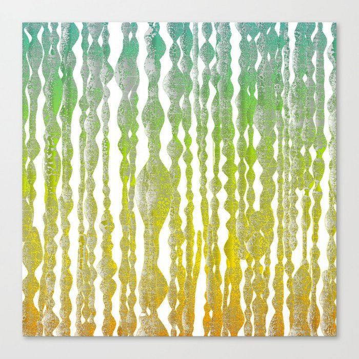 psychedelic stripes - green Canvas Print