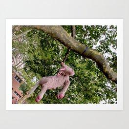 Disillusioned Unicorn Art Print
